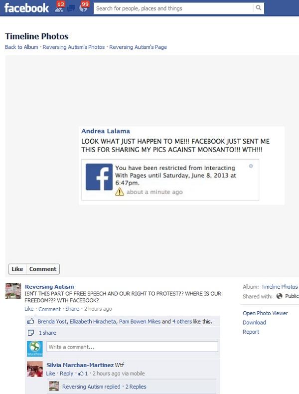 Facebook censura libertad de expresion.